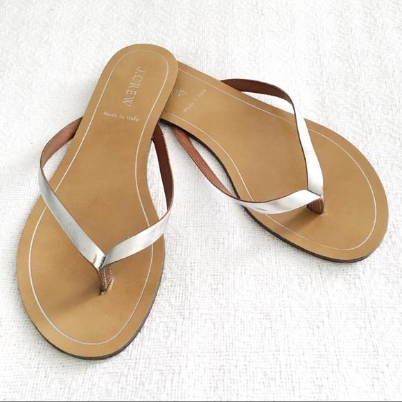 3a3f34a73a9fb J. Crew Shoes - j.crew rio sandal in metallic silver